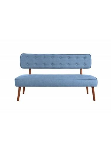 Ze10 Design Westwood Loveseat İikili Kanepe İndigo Mavi Mavi